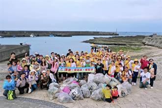 認養海岸淨灘  靈鷲山3年撿9噸垃圾
