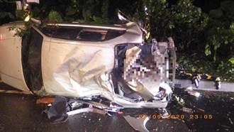 男駕車打滑撞上交通號誌 5人受傷