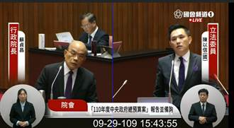 揚言向美國告狀「國民黨反美豬」 藍委:怎麼講? 蘇揆:用中文