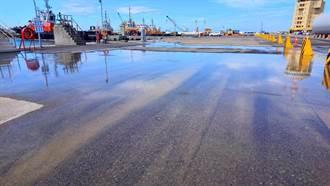 台中港碼頭水管破裂 兩公司未達共識致積水14天