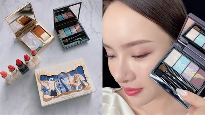 肌膚之鑰全新節慶系列彩妝,能打造出精緻高雅的妝容。(圖/邱映慈攝影)