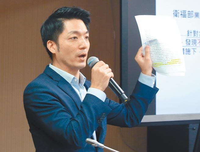 藍綠兩大台北市長熱門人選蔣萬安(見圖)、陳時中,昨天在立法院第二會期,針對瘦肉精美豬首度交鋒就爆出激烈火花。(趙雙傑攝)