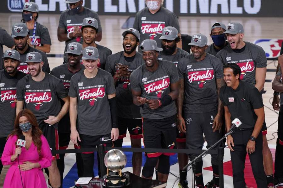 熱火隊勇奪2020年NBA東區冠軍。(美聯社資料照)