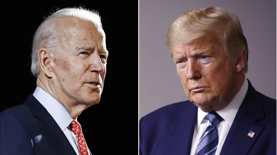 美國總統川普和民主黨對手拜登大選前的首場辯論即將在當地時間周二登場。(美聯社)