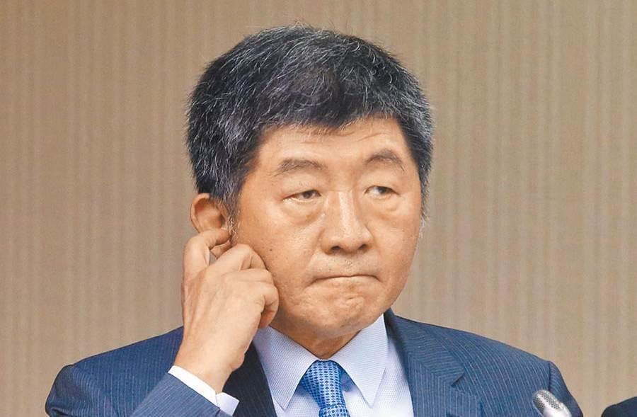 衛福部長陳時中28日列席立法院衛環委員會進行業務報告並備詢。(趙雙傑攝)