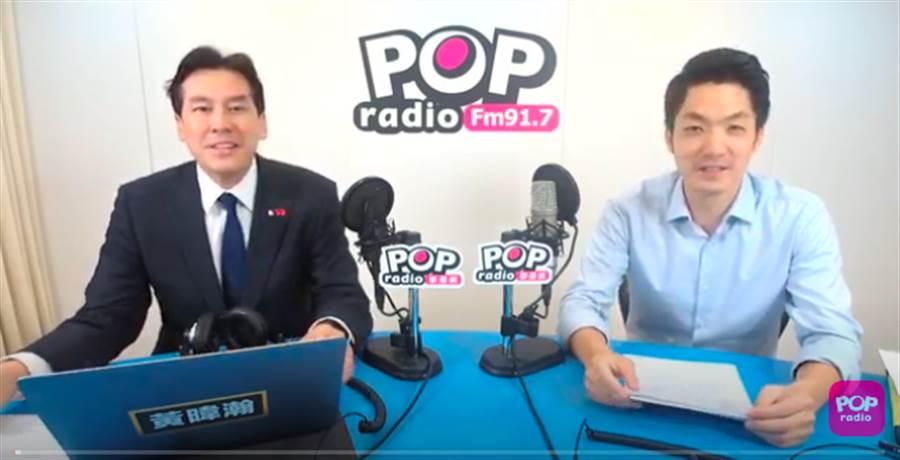 蔣萬安接受訪問(POP撞新聞提供)