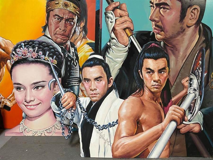 張玉村的手繪電影看板10月1日起在嘉義文創園區展出。(嘉義文化創意產業園區提供/呂妍庭嘉義傳真)
