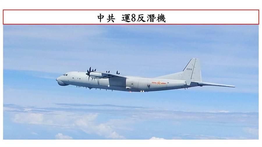 共軍運8反潛機,今天再度擾台。(圖/本報資料照)