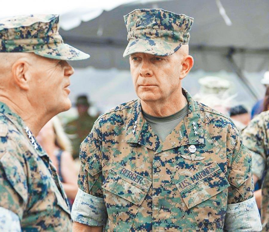 美國陸戰隊司令伯格(Lt. Gen. David H. Berger)。(摘自美國陸戰隊官網)
