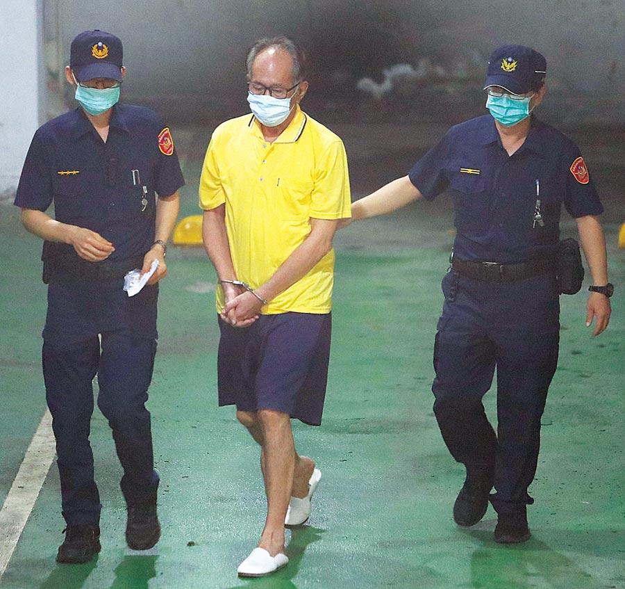 立法委員陳超明(中)高院昨確定羈押。(季志翔攝)
