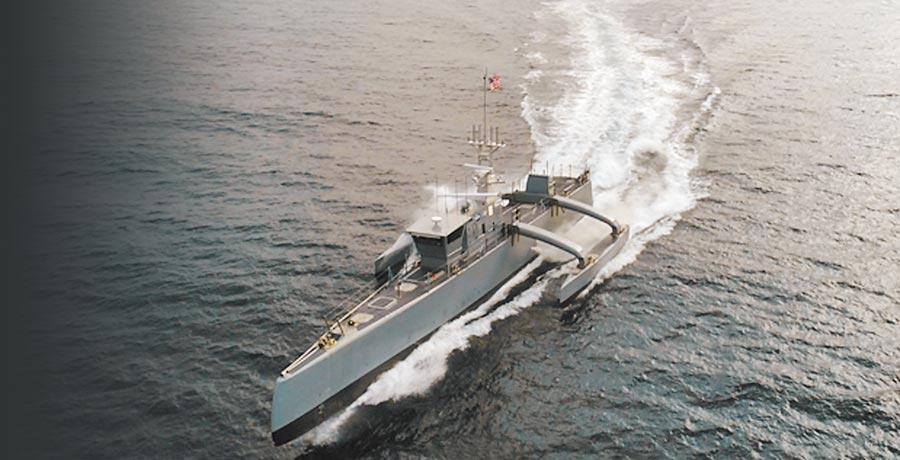 美國海軍海上獵手(Sea Hunter)無人鑑。(取自DARPA官網)