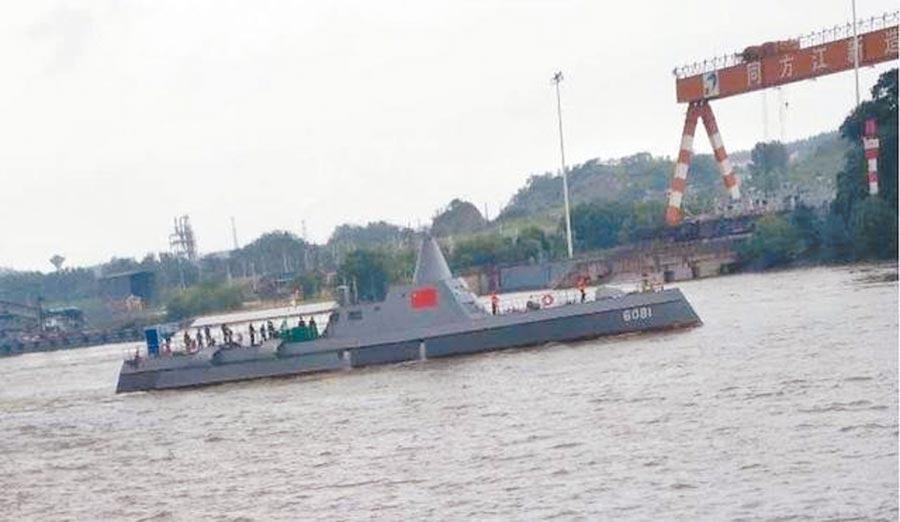 大陸網路流出疑似三體無人戰艦的照片。(取自微博@霍小兵)