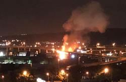 國道彰化系統槽罐車高空墜地爆炸 司機當場死亡 民眾嚇醒