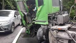 蘇花公路161.2K撞車2重傷 雙向交通中斷