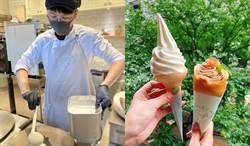 限時11天的季節限定甜點 牛乳霜淇淋搭配栗子可麗餅太美味