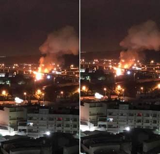 氫氣槽車國道墜落爆炸 巨響火光沖天 民眾驚:飛彈來了?