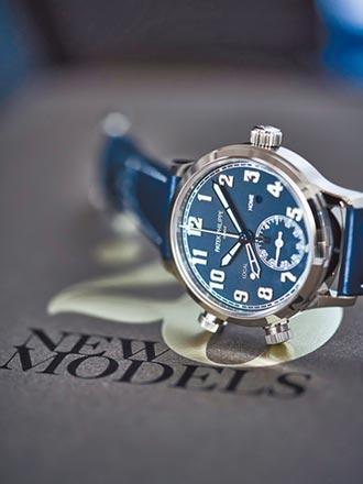 百達翡麗新裝藍白配 兩地時間飛行表清晰優雅