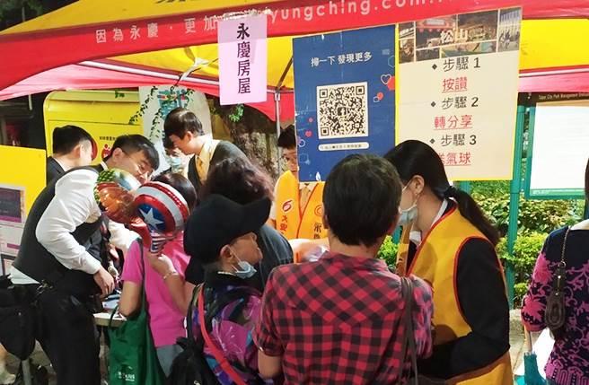 永慶房屋攤位還加碼抽獎活動,不少人都來到攤位想一求好手氣。(圖/永慶房屋提供)