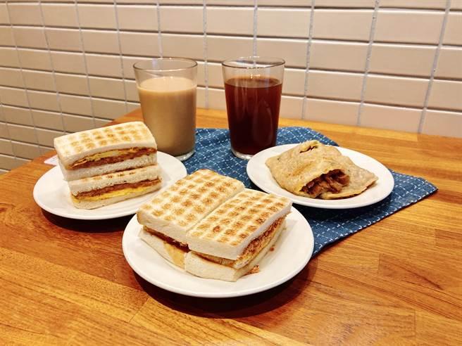 真芳門市推出展覽限定的「台味早餐系列」。(圖/邱映慈攝影)