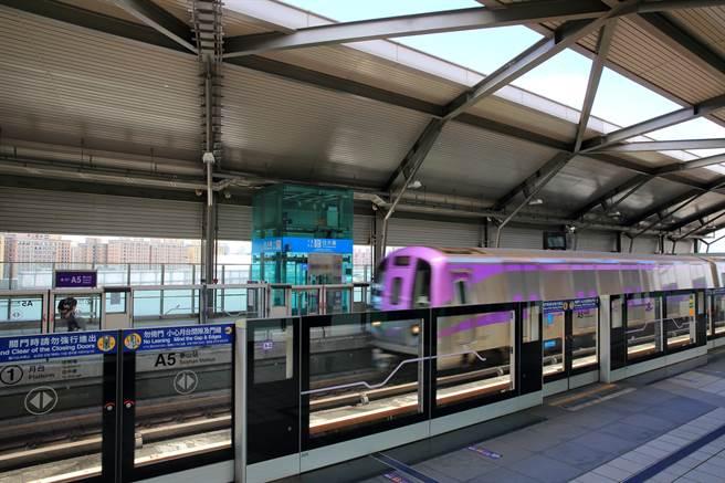 ▲接軌國際的機場捷運沿線成為兩岸三地與外資首選區塊,圖為機捷A5站。(業者提供)