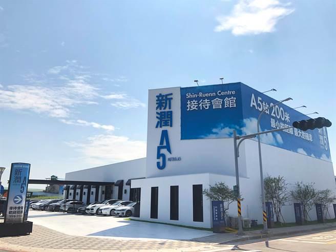▲新潤興業特別選在塭仔圳重劃區內目前唯二商住區規劃的機捷A5特區推出「新潤A5」。(中時新聞網攝)