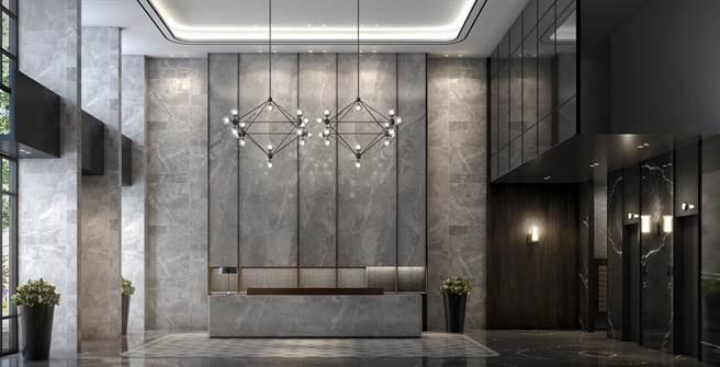 ▲「新潤A5」產品規劃多元,圖為商辦大廳3D示意圖。(業者提供)