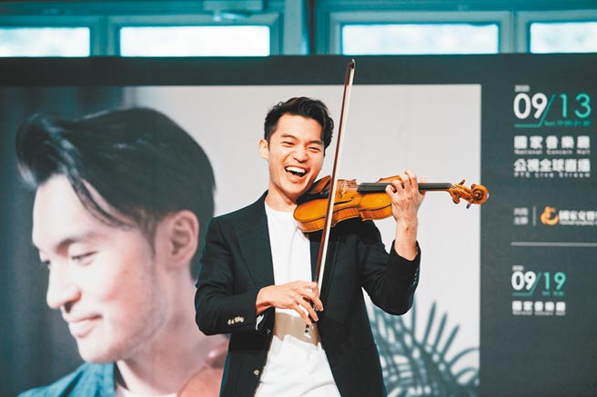 伊莉莎白大賽首獎得主、小提琴家陳銳,近期返台演出,隔離14天順利出關,分享練習演奏的心法。(郭吉銓攝)