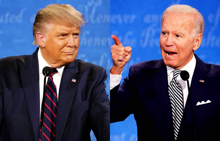 美國總統大選首場辯論結束,川普與拜登砲火全開,兩人激烈交鋒吵得不可開支,辯論會後首個民調結果出爐,CNN民調指出,60%的受訪者認為拜登表現較好,認為川普表現較好的受訪者只有28%,川普慘敗。(圖/美聯社、路透社)