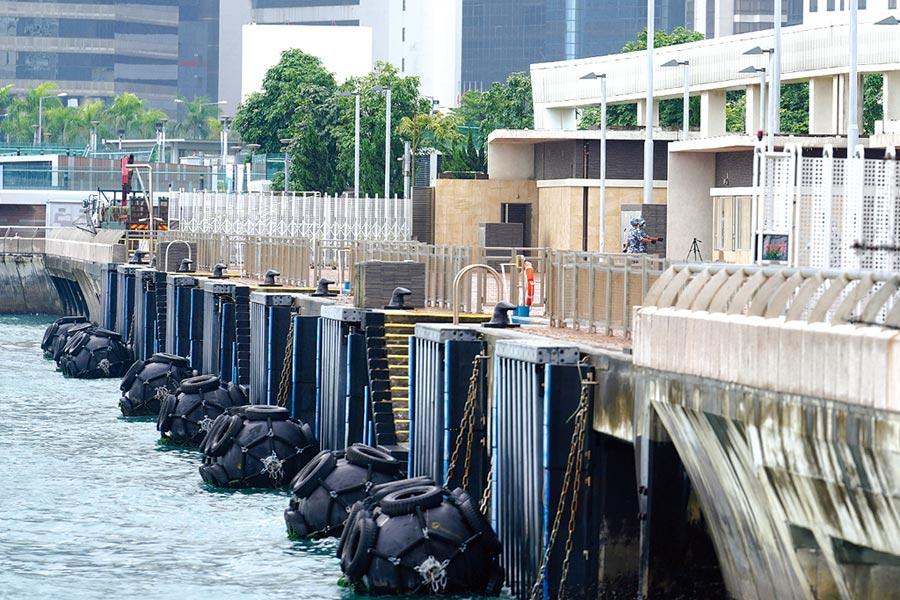 香港中區軍用碼頭9月29日正式移交給中國人民解放軍駐香港部隊管理使用。圖為香港中區軍用碼頭。(中新社)