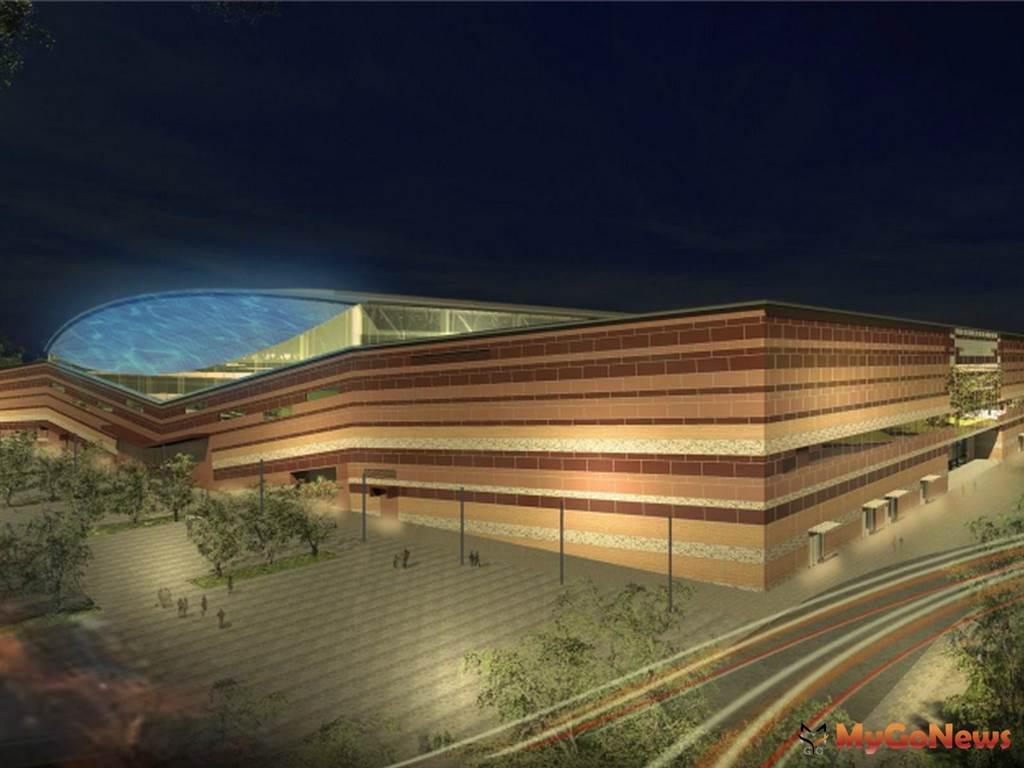 大台南會展中心預計2021年4月完工,黃偉哲要求務必如期如質完工(圖:台南市政府)