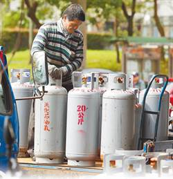 10月桶裝瓦斯漲價0.4元 車用液化石油氣調漲0.2元
