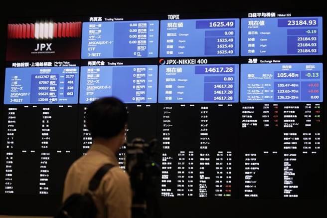 日股驚爆大當機,數千檔股票暫停交易。(美聯社)