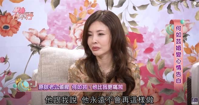 王敏錡外遇後曾哭訴求原諒「我永遠都不會再這樣做」卻食言。(圖/YT@東風衛視)