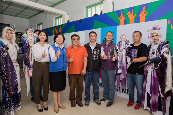 「雲林國際偶戲節」登場,布袋戲科技互動特展打頭陣。(張朝欣攝)