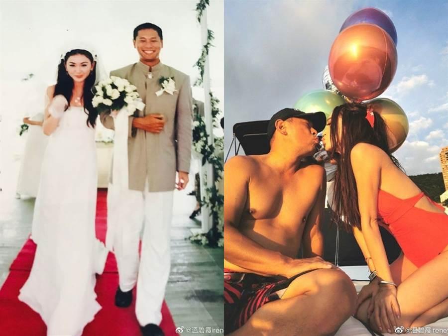 溫碧霞與老公曾差點離婚,所幸化解危機,重新找回相愛的理由。(圖/微博@溫碧霞)