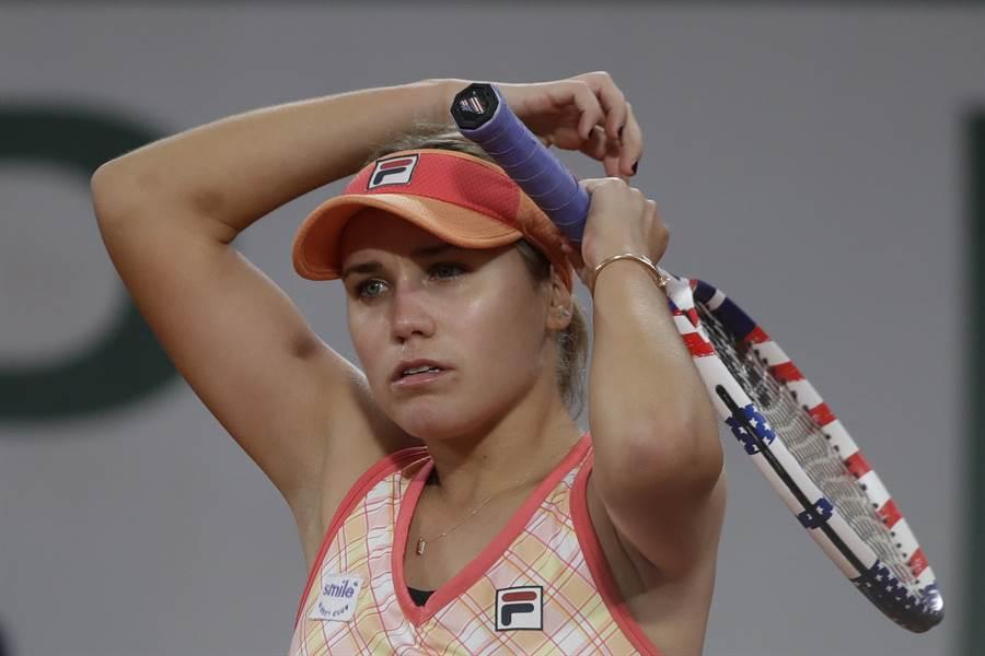 柯寧經過一番苦戰才收下晉級法網女單32強門票。(美聯社)