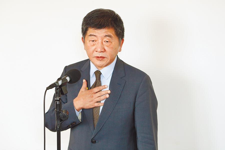 衛福部長陳時中。(杜宜諳攝)