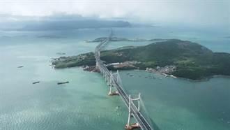 京台公鐵高速先期工程?平潭海峽公鐵兩用大橋公路面試通車