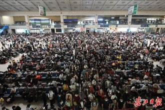大陸國慶中秋雙節客流疊加 武漢機場火車站旅客量均創新高
