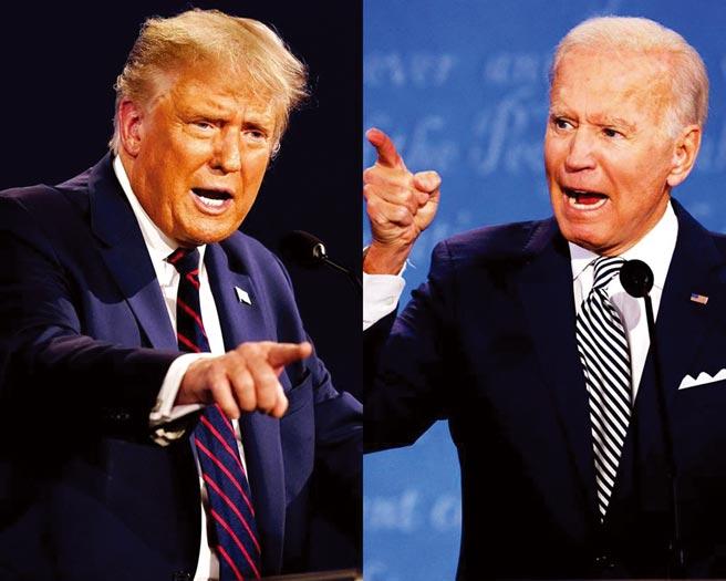 美國總統川普(圖左)今宣布確診新冠肺炎,外界關注前幾天的總統大選辯論恐令對手拜登(圖右)深陷染疫風險。(圖/美聯社、路透)