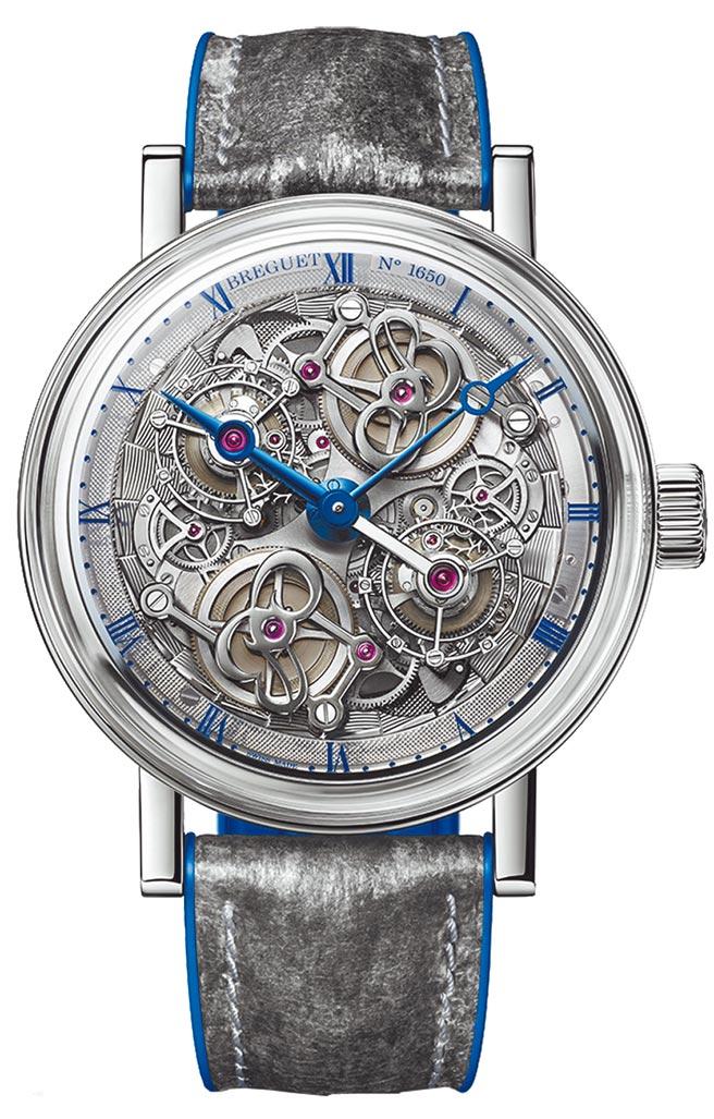 """寶璣Classique 5345 """"Quai de l'Horloge""""鏤空雙陀飛輪腕表登台,約2054萬元。(Breguet提供)"""