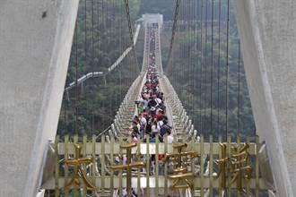 全台最長景觀吊橋太平雲梯 年底登梯人次可望突破60萬