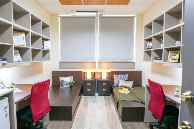 世新大學於暑假完成宿舍翻修工程,空間設計宛如時尚文旅。(世新大學提供/李侑珊台北傳真)