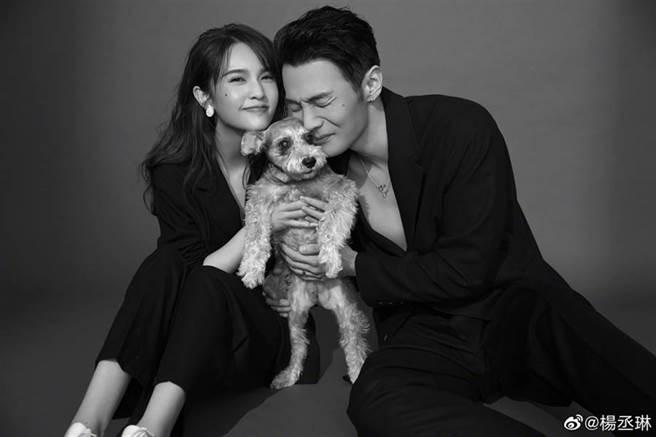 楊丞琳和李榮浩新婚1年。(圖/微博@楊丞琳)