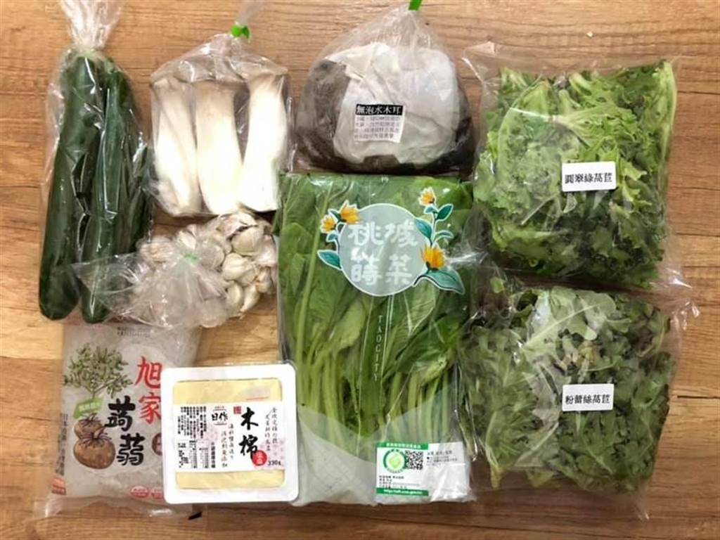 「猛男農夫養成計畫」和各地農友合作,推出宅配到府的蔬菜箱。(詹凱麟提供/王文吉台中傳真)