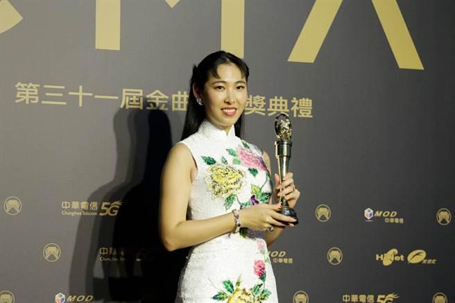 王若琳奪下最佳國語專輯。(圖/廖映翔攝)