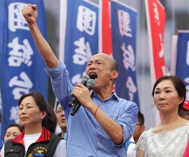 前高雄市長韓國瑜(中)動向備受外界關注。(中時資料照)