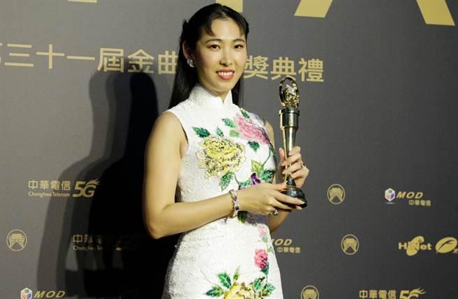王若琳奪金曲最佳國語專輯,卻因是翻唱專輯引發爭議。(圖/廖映翔攝)