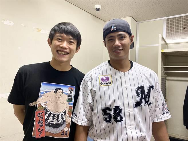 陳冠宇(左)與陳偉殷(右)兩人是大學前後輩,如今又在羅德成為隊友。(截自羅德官方推特)