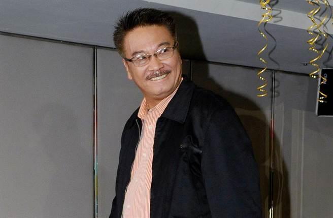 吳孟達2010年來台宣傳中視戲劇《流氓校長》。(圖/中時資料照)